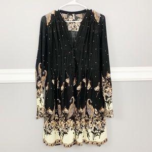 Free People Boho Black Patterned Dress